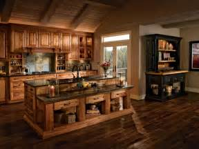Tuscan Kitchen Islands kitchen in rustic birch in praline and cherry in vintage