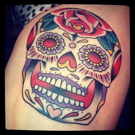 tattoo old school skull old school leg skull tattoo by black heart studio