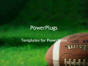 football powerpoint templates football on grass powerpoint template background of