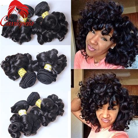 Promo 3pcs Syoss Bouncy Curl 150ml bouncy curly human hair bundles 3pcs lot 100g funmi curly