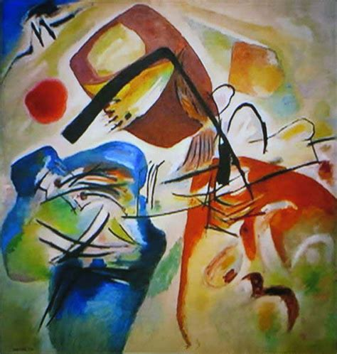 imagenes abstractas liricas painting with black arch by wassily kandinsky