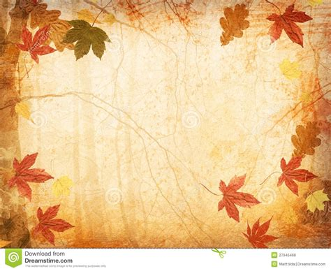 Fall Leaf Background Wallpapersafari Autumn Powerpoint Background