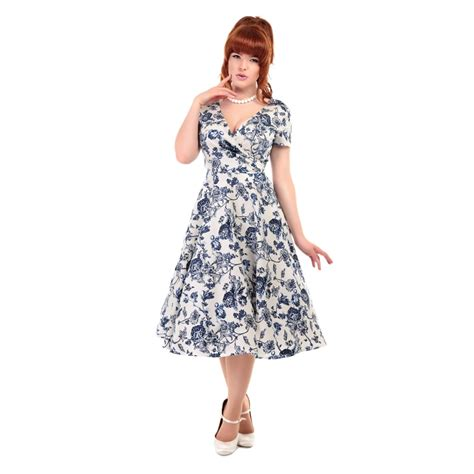swing clothes uk collectif vintage maria toile floral print swing dress
