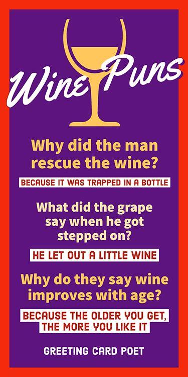 funny wine puns memes images  jokes greeting card poet
