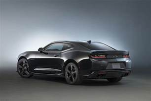 2016 chevy camaro black concept at sema gm authority