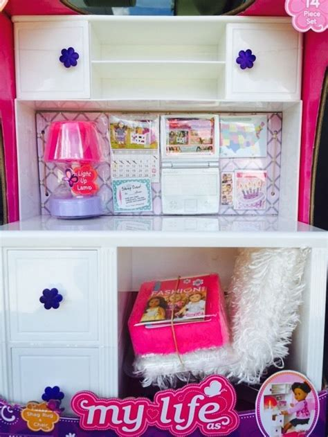 my life doll desk my life as desk fuzzy chair l for 18 quot or american