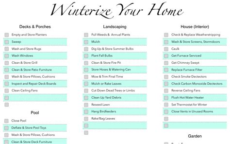 numbers winterization checklist free iwork templates