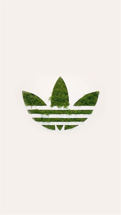 adidas logo green sports grass art papersco