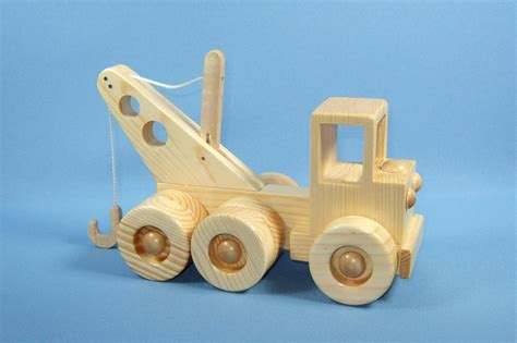 Handcrafted Toys - handcrafted wooden tow truck