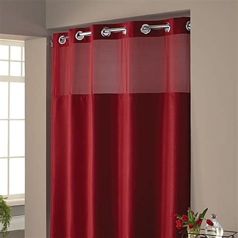 red bathroom shower curtains buy hookless 174 waffle 71 inch x 74 inch fabric shower