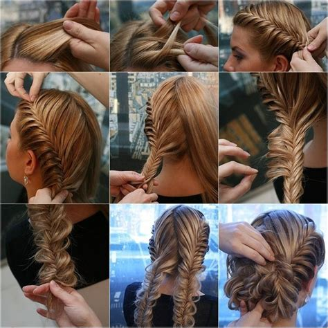 Hairstyles For Hair Step By Step For Braids by Try This Fabulous Herringbone Braid Updo Hair Make Up