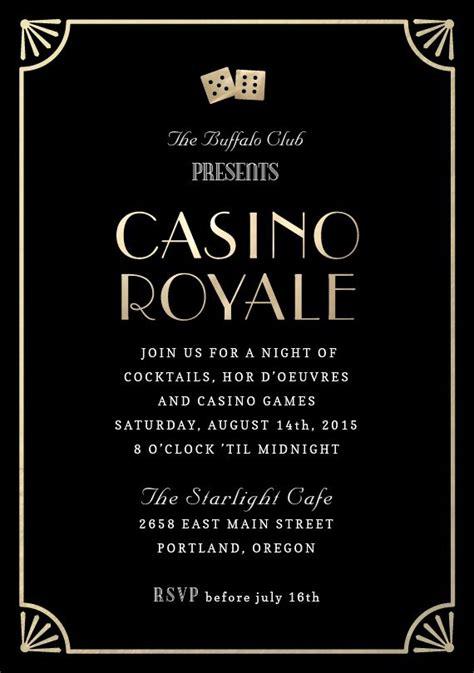 Quot Casino Royale Quot Invitation By Kristy Kapturowski Greenvelope Com Quot James Bond Gala Casino Free Bond Invitation Template