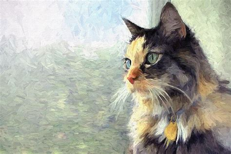 painting cats commission a portrait painting by artist joseph dea pet