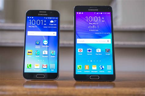Samsung S6 Note samsung galaxy s6 vs galaxy note 4 mobilesyrup