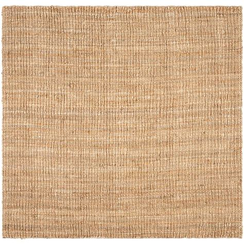 Rectangle Area Rugs Safavieh Fiber Beige 6 Ft X 6 Ft Square Area Rug Nf447a 6sq The Home Depot