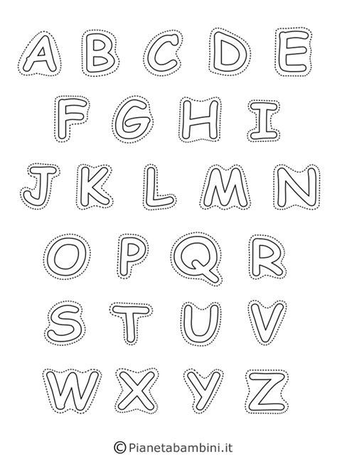 lettere maiuscole lettere dell alfabeto da stare colorare e ritagliare