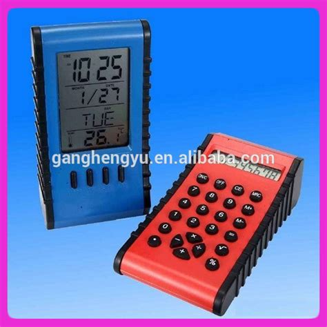 Calendar Clock Abs Electronic Desktop Calculator Clock And Calendar