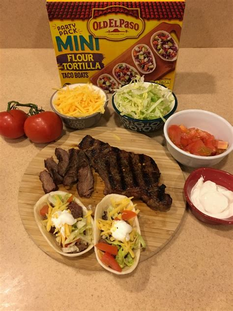 taco boats tesco old el paso flour mini boats steak tacos wheel n deal mama