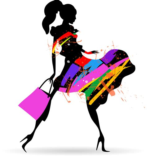 clothes vector design free download fashion girl with shopping vectors 10 vector people free