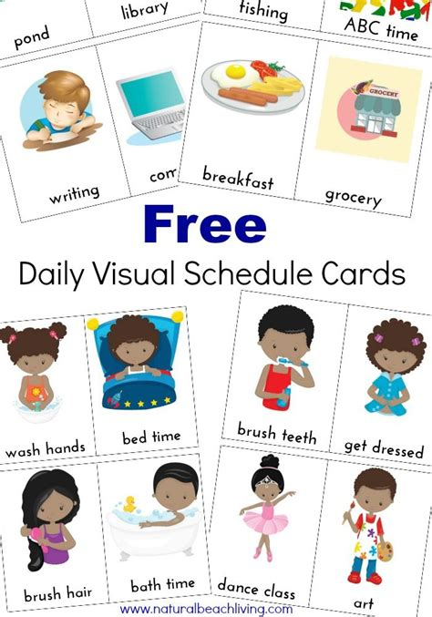 printable visual schedule for toddlers extra daily visual schedule cards free printables visual