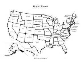 Printable map of united states with states labeled