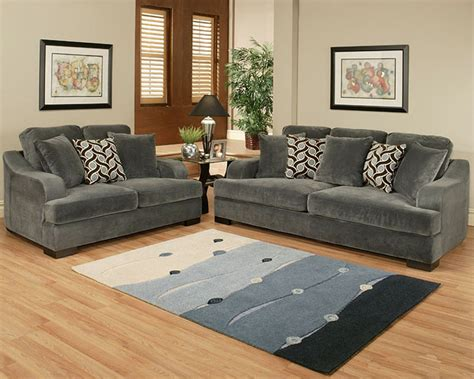Sofa Set Style by Sofa Set Rocky Style In Charcoal Finish Bh