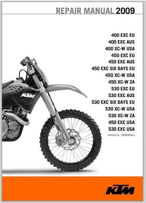Ktm 50 Service Manual 2009 Ktm 400 450 530 Xc W Exc Six Days Service Manual Pdf