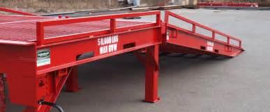 Standing Forklift by Loading Docks Amp Portable Loading Ramps Dura Ramp