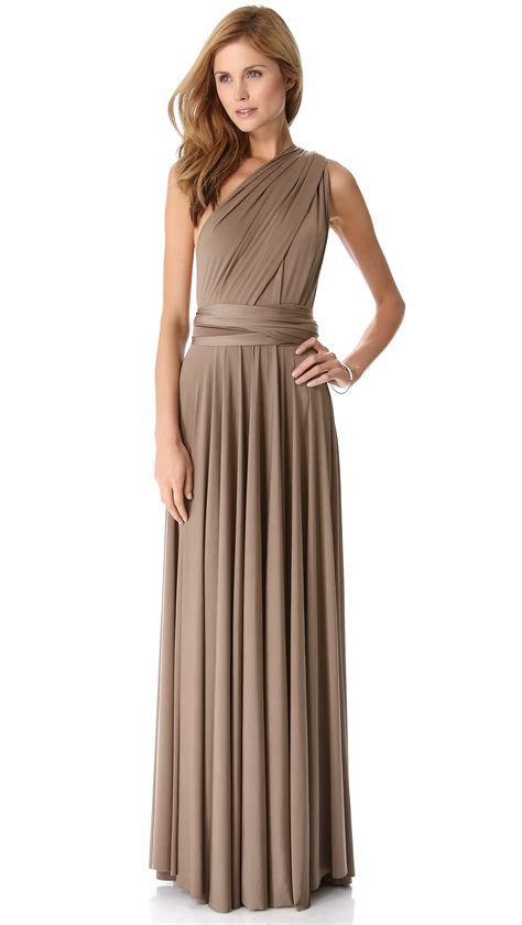 maxi dress 2 lyst twobirds convertible maxi dress in brown