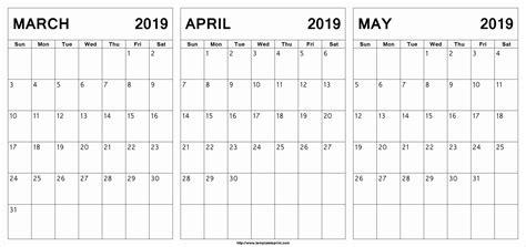 march april calendar printable march april