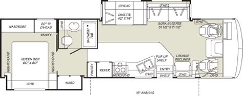 fleetwood bounder floor plans 2007 fleetwood bounder class a rvweb