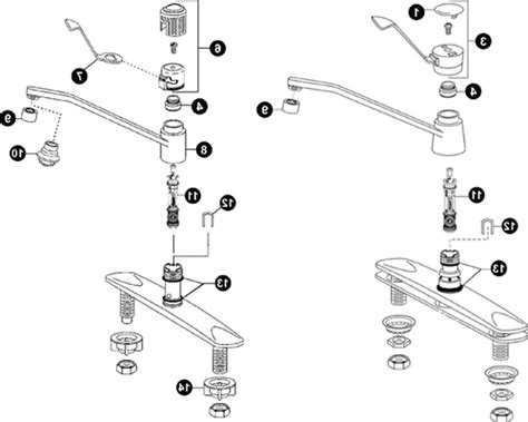 moen kitchen faucet parts diagram kitchen faucets product moen faucet repair fix and moen