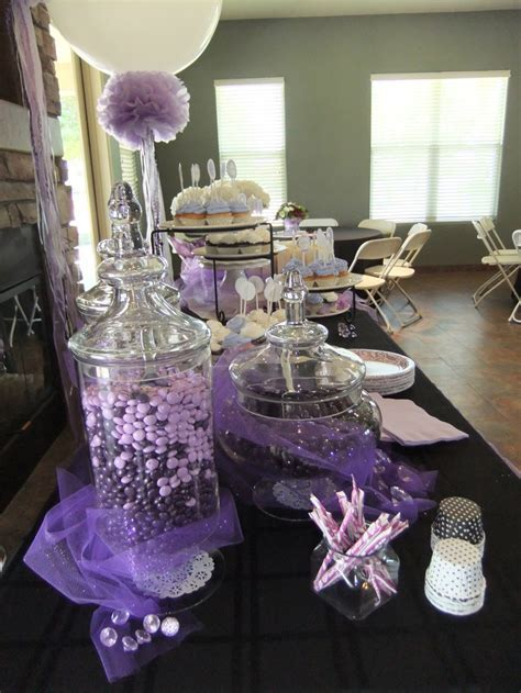 Lavender bridal shower candy jars   crafty ideas
