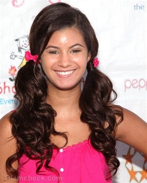 Hairstyles For Short Hair Olivia Grace   olivia grace cute in school girl style curly ponytails