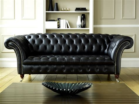 black pattern sofa black leather chesterfield balston chesterfield company