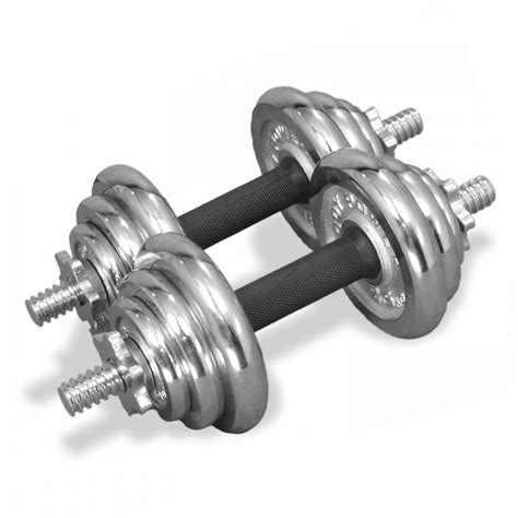 Dumbbell Set 20kg Power 20kg Chrome Spinlock Dumbbell Set