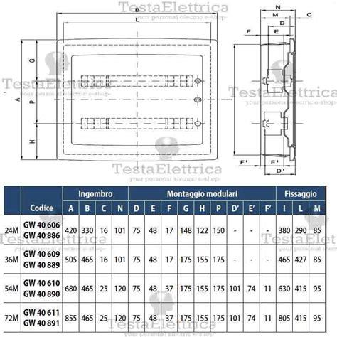 cassette per quadri elettrici gewiss gw40606 centralino ip40 24 moduli portello fum 232 per