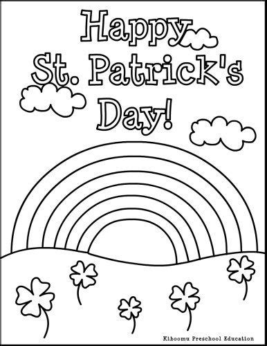 Patrick O Brian St Patrick S Day And Coloring Pages On St Day Color Sheets