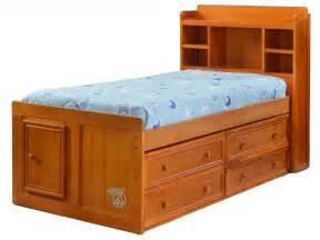 captains bed with bookcase headboard hoot judkins furnituresan franciscosan josebay