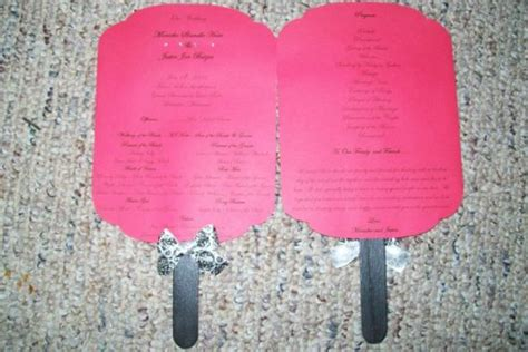 paddle fan wedding program template msmonicka s diy paddle fan programs weddingbee photo gallery
