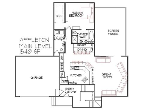 1500 Sq Ft Bungalow Floor Plans by 1500 Sq Ft One Story House Plans 1500 Sq Ft House Floor