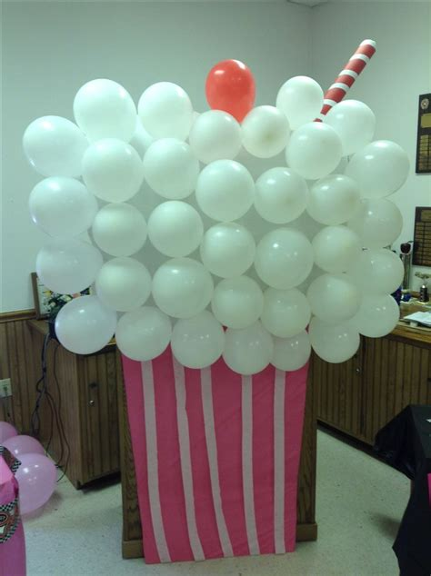 50s themed decorations 50s decor milkshake pictureprop 50 s