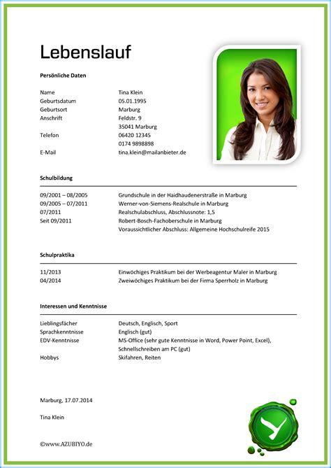 Handschriftlicher Lebenslauf Beispiel Schuler Muster Lebenslauf Sch 252 Ler Business Template