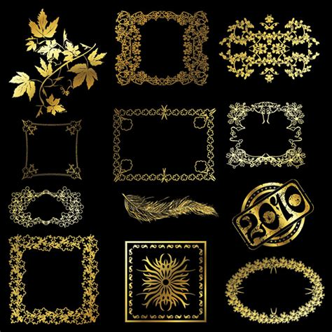 gold lace pattern 12 gold lace pattern vector material over millions