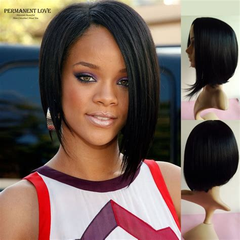 black celebrities in long straight weave wigs with bangs straight black long wigs bobs style african american