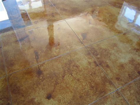Polished Stained Concrete Floors by Millroi Construction Services Decorative Stained Etched