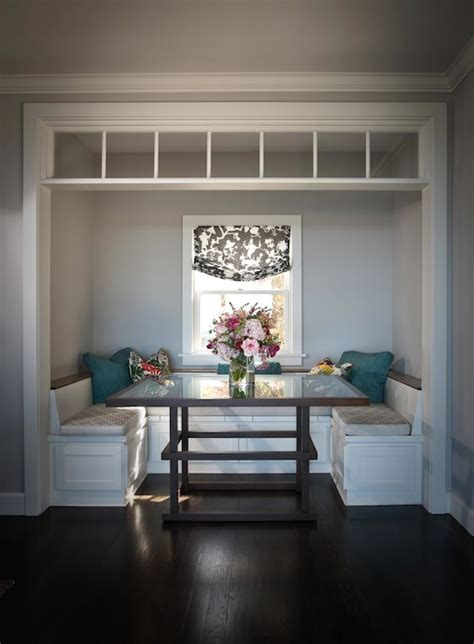 dining room nooks built in banquette traditional dining room andrea may