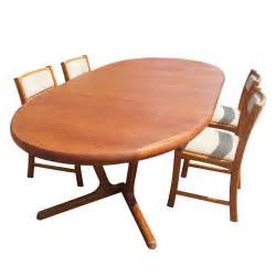 Teak Dining Table And Chairs Scandinavian Teak Dining Table And Four Chairs