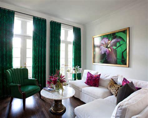 emerald green curtains houzz