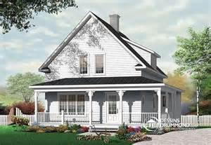 House Plans With Porches D 233 Tail Du Plan De Maison Unifamiliale W3512